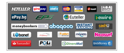 The various different payment methods at LoteriasOnline.co